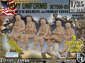 1/35 Mod-Unif Vest+Mitch Set506-03 in Smooth Fine Detail Plastic
