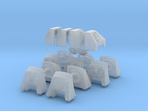 Commission 38 dreadnought shoulder pads in Smooth Fine Detail Plastic