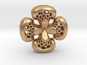 Sphericon Flower pendant in Natural Bronze