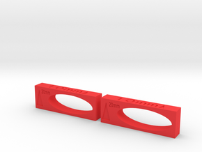 Setup Blocks 3.5.1 in Red Processed Versatile Plastic