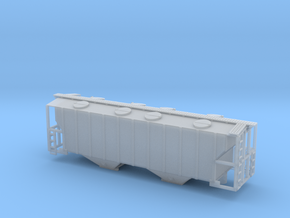 100 Ton Two Bay Covered Hopper - Zscale in Smooth Fine Detail Plastic