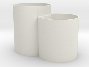 Vase Mod 005 in White Natural Versatile Plastic