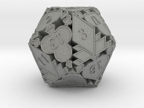 D20 Balanced - Cards (Plastic) in Gray Professional Plastic