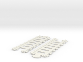 MINIs Straight Track 2x in White Natural Versatile Plastic
