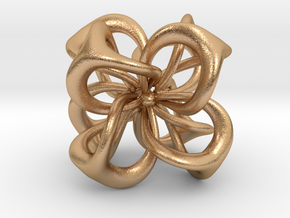 Flower in 4 Dimensions in Natural Bronze