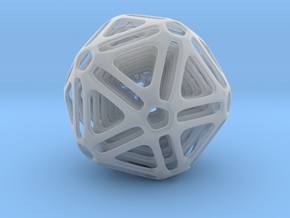 Nested Icosahedron in Smooth Fine Detail Plastic