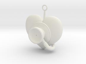 Stethoscope Pendant in White Natural Versatile Plastic