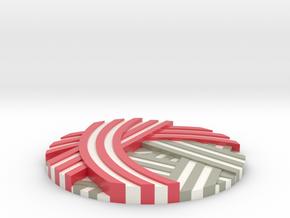 KanadeCoin | 奏コイン in Glossy Full Color Sandstone