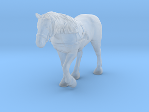 Draft Horse w/Harness in Smooth Fine Detail Plastic: 1:64 - S