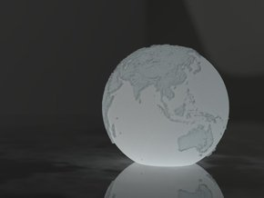 Lamp Globe in White Natural Versatile Plastic