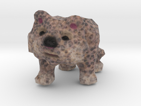 Snowy Leopard Figurine in Natural Full Color Sandstone