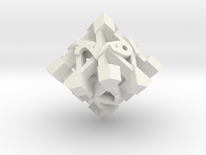 Intangle Die10 in White Natural Versatile Plastic