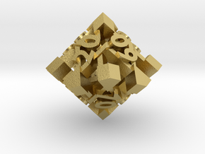 Intangle d10 Decader in Natural Brass