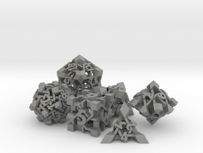Intangle Dice Set in Gray Professional Plastic