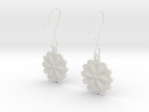 Daisy earrings in White Natural Versatile Plastic