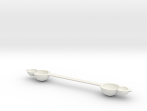tea spoon.stl in White Natural Versatile Plastic: Small