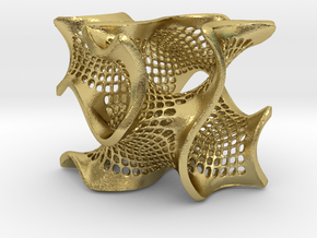 Perforated gyroid in Natural Brass