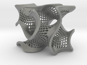 Perforated gyroid in Gray Professional Plastic