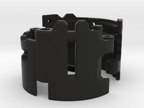 Graflex2.0 - Master Chassis - 3/7 Shell 2 in Black Premium Versatile Plastic