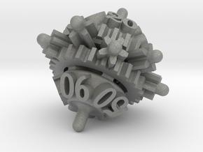 Clockwork Gears Dice in Gray Professional Plastic: d00