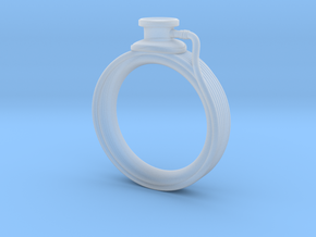 Stethoscope Ring in Smooth Fine Detail Plastic: 4 / 46.5