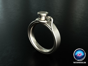 Stethoscope Ring in Natural Silver: 7 / 54