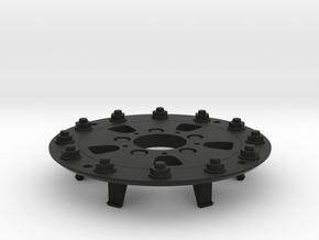 TRX-4 Hutchinson Wheel Cap 12 Nuts - One Piece in Black Premium Versatile Plastic
