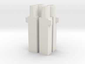 Swoop Missile Mounts (Beta) in White Natural Versatile Plastic