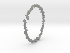 Bracelet of Cubes No.2 in Gray Professional Plastic