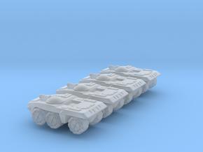 Berretta Medium Wheeled Armor - 3mm in Smooth Fine Detail Plastic