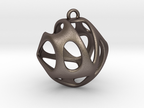 Hedra I in Polished Bronzed-Silver Steel