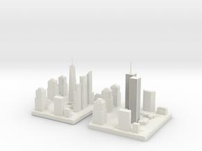 World Trade Center complex evolution in White Natural Versatile Plastic