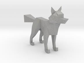 LOWPOLY FOX in Aluminum