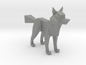 LOWPOLY FOX in Gray Professional Plastic