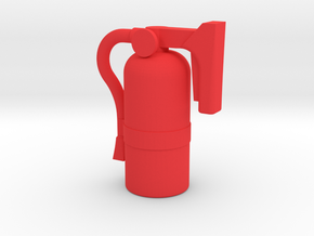 Fire Extinguisher - 1:10 Scale in Red Processed Versatile Plastic