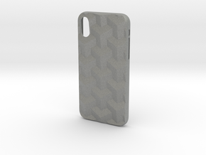 iPhone X case_Cube in Gray Professional Plastic