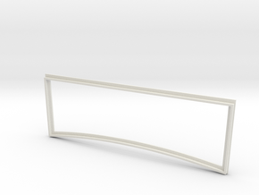 1/8  '30 Ford Windshield Frame in White Natural Versatile Plastic