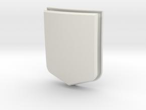 Modern Shield (Framed) in White Natural Versatile Plastic: Small