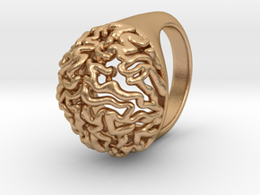 Brain Ring in Natural Bronze