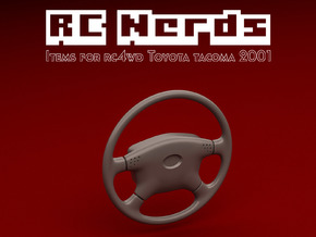 RCN122 Steering Wheel for RC4WD Toyota Tacoma in White Natural Versatile Plastic