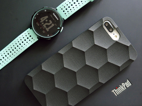 iPhone 7 & 8 Plus case_Hexagon in Black PA12