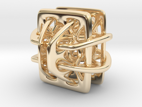 Borromean link nexus modified in 14k Gold Plated Brass