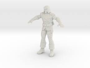 Green Arrow voxelized in White Natural Versatile Plastic