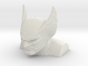 Wolverine voxelized in White Natural Versatile Plastic