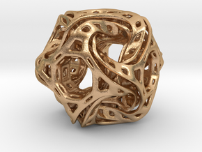 Ported looped drilled  cube colored in Natural Bronze