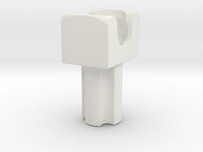 Neck Piece (axle+ball connector) in White Premium Versatile Plastic