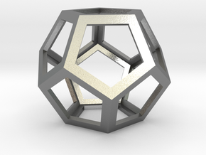 Dodecahedron in Natural Silver