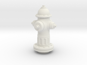 1/25 Fire Hydrant in White Natural Versatile Plastic