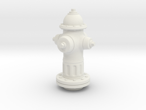 Fire Hydrant 1/20 scale in White Natural Versatile Plastic
