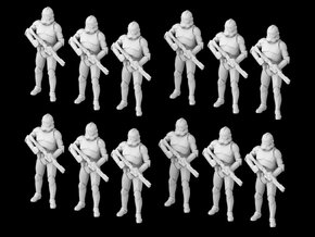 (1/47) 12x Clone Trooper Phase 2 in formation in Smooth Fine Detail Plastic
